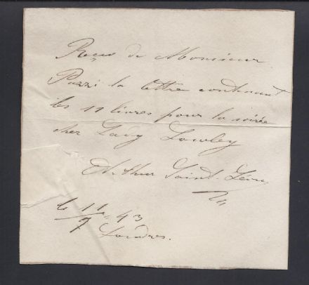 Arthur Saint-Léon Signed Note - Maître de Ballet of St. Petersburg Russian Imperial Ballet